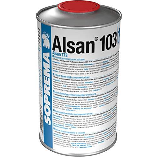 1 Dose (1,0 Liter) ALSAN 103 TPO/FPO Primer - Grundierung für hochpolymere Abdichtungsbahnen (z.B. TPO/FPO, EPDM) eingesetzt. Vorbereitung für ALSAN PMMA-Abdichtungsharze und ALSAN FLASHING quadro