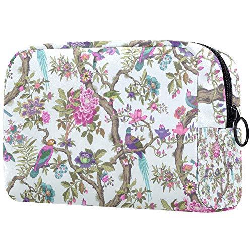ATOMO Bolsa de maquillaje, bolsa de viaje para cosméticos, bolsa de aseo grande, organizador de maquillaje para mujeres, patrón de huevo de pato rosa rosa