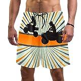 Costume da Bagno Raduno motociclistico Swim Trunks Asciugatura Veloce Pantaloncini da Bagno Stampa con Coulisse per Barca Spiaggia Piscina XL