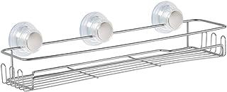 InterDesign Turn-N-Lock Suction Bathroom Shower Caddy Corner Basket for Shampoo 27575