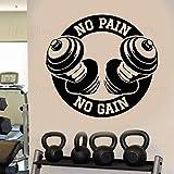 wZUN Sin Dolor, sin Cita, Pegatinas de Vinilo, decoración del Club de Fitness, calcomanía de Pared, Mural de Estudio, 50X46cm