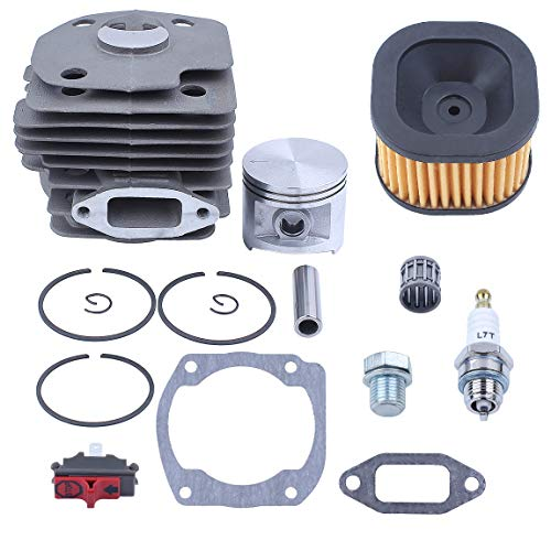 Haishine 50mm Cylinder Piston Rings Air Filter Bearing Gasket Rebuild Kit Fit Husqvarna 372XP Chainsaw Spare Parts #503 81 80-04