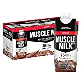 Muscle Milk Genuine Protein Shake, Chocolate, 25g Protein, 11 Fl Oz (Pack of 12)