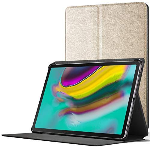Forefront Cases Smart Caso para Galaxy Tab S5e 10.5   Estuche Protector con Cierre Magnético para Samsung Galaxy Tab S5e T720/T725 10.5 2019   Smart Auto Sueño Estela Función   Delgado Ligero   Oro