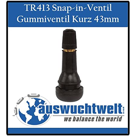 Haskyy 100x Tr413 Reifenventile Gummiventile Autoventile Pkw Snap In Gummiventil Reifenventil Ventile Ventil Auto