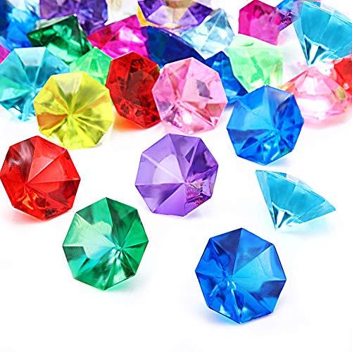 Diamantes de Acrílico Multicolores YUIP Piedras Multicolor Transparente Decoración de Diamantes Brillantes para Suministros de Fiesta 32mm Bunt (Alrededor de 33 Piezas)