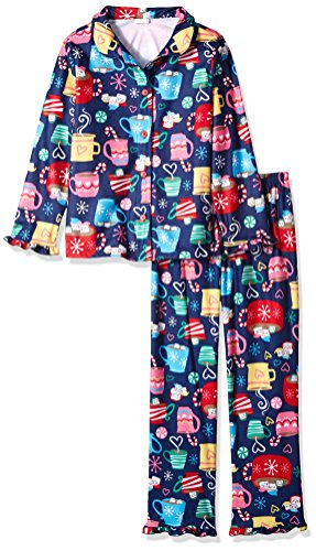 Gymboree Girls' Little 2 Piece Pajama Set Gymmies, Mug Print (XS (4))