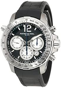 Raymond Weil Men's 7700-TIR-05207 'Nabucco' Titanium Automatic Watch with Black Rubber Band Check Prices and For Sale and review image