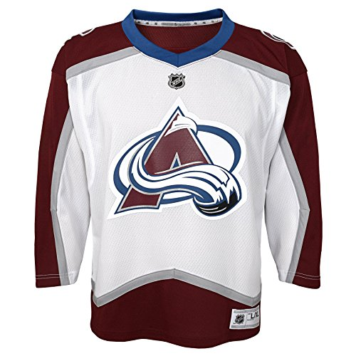 Outerstuff Youth NHL Replica Jersey-Away Colorado Avalanche, White, Toddler One Size (2T-4T)