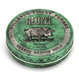 REUZEL Green Pomade Grease, Medium Hold, 4 oz.