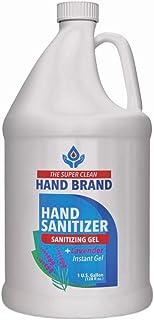 The Super Clean Hand Sanitizer Instant Gel - 1 Gallon 70% Alcohol Based Bulk (FL 128 Ounce) - Lavender Fragrance - Made in USA