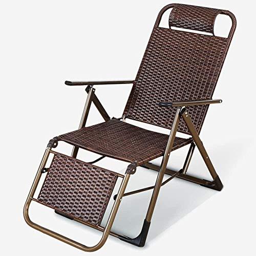 HPLL plegable silla de camping creativo verano refuerzo fresco silla de mimbre/oficina Siesta silla plegable/balcón respaldo ocasional silla-A