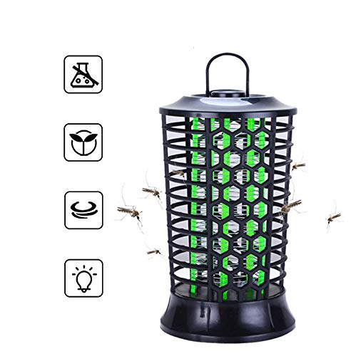PECHTY Mosquito Killer Lamp, UV Light Insect Killer Trap Lamp Electric Bug Zapper, USB Mosquito Killer Lamp for Bedroom Kitchen Office Patio Camping Fishing Pest Control (27 * 12 * 12cm)