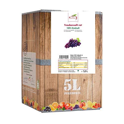 Pfannenschwarz Traubensaft rot 100% Direktsaft Bag in Box 5 L