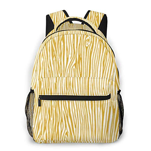 Men Women Daypack,Laptop Bags,Adult Travel Rucksack,Lightweight College Book Bags,Boys Girls Casual Backpack,Grain Mustard Yellow