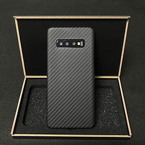 Idealforce Custodia in fibra di carbonio per Galaxy S10 Plus, doppio strato 12g & 0.7 mm Slim Aramid Carbon Fiber Case S10 Plus Hybrid Shock Absorbing Cover per...