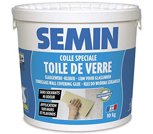 Semin A01541 Colle en Pâte pour Toiles de Verre Prête à lEmploi, Seau de 10 kg