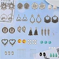 EXCEART 1 Set 309 PCS Earring Decoration Kit DIY Earrings Material Set Earrings Making Craft for Handmade Earring Jewelry Making Craft Fashion Decoration