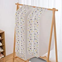 Clothes Covers Pattern Clothes Hanging Garment Dress Clothes Suit Coat Dust Cover Home Storage Bag Organizer Wardrobe Hang...