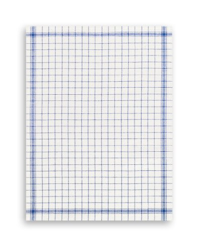 Geschirrtuch, Halbleinen, TRIOLINO®, klassisch blau kariert, 50x70cm