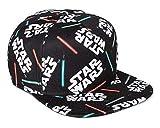 Star Wars Lightsaber All Over Print Snapback Hat Black