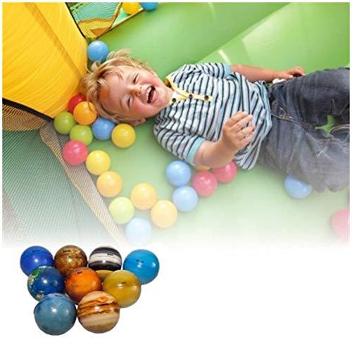 Sticky Ball, 9 Stück Sonnensystem Stress Ball, Leuchtend Dekompressionsball Stressabbau Ball, 2.48inch globbles bälle Dekompressionsspielzeugbälle für Kinder und Erwachsene (9PCS Mehrfarbig)
