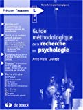 Guide méthodologique de la recherche en psychologie