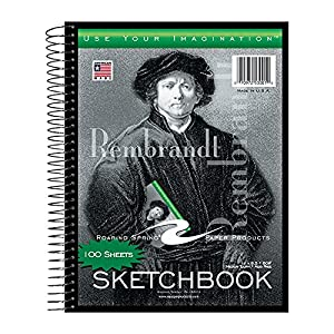 """Sold as an each - one sketch book Dimensions: 8.5"""" x 11"""" 100 Sheets 60# white plain drawing paper. Works great with pencil, pen, markers, or crayons Spiralbound snag proof wire and heavy chipboard back Made in the USA"""