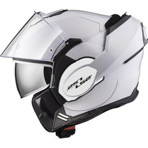 LS2 Casco moto VALIANT Bianco, Bianco, XL