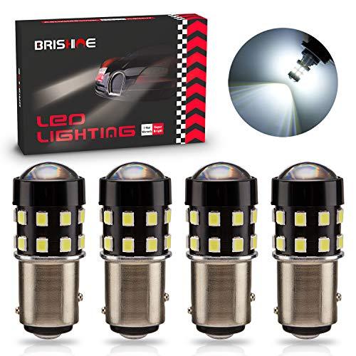 BRISHINE 4-Pack 1000 Lumens Super Bright 1157 2057 2357 7528 BAY15D LED Bulbs 6000K Xenon White...