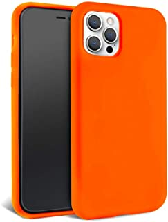 FELONY CASE – iPhone 12 and iPhone 12 Pro Case – Neon Orange Silicone Phone Cover | Wireless Charging Compatible, 360° Sho...