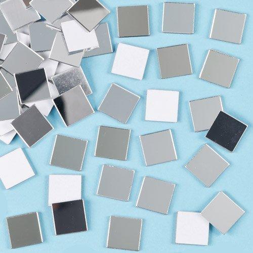 Baker Ross Selbstklebende Mosaik-Spiegelkacheln - für Kinder zum Basteln und Dekorieren - 100 Stück