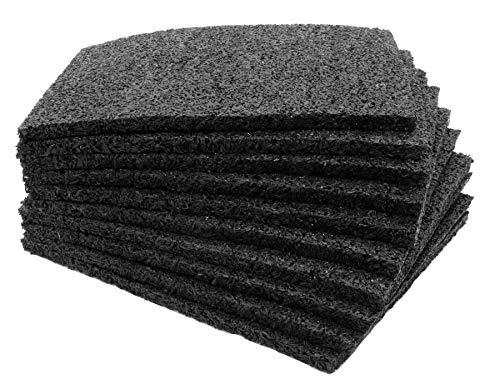 Dalles de Terrasse 15x20cm - Patins de Terrasse en Granulés de Caoutchouc | Construction de terrasse | Épais d´env. 8mm - 1 Pièce