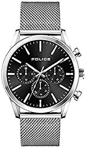 Police Reloj Analógico para Hombre de Cuarzo con Correa en Acero Inoxidable 1