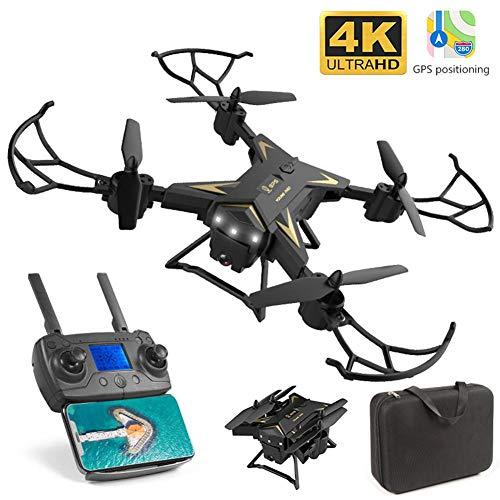 KY601G Potensic Drone con Cámara HD 4K,5G WiFi FPV App Distancia de FPV de 250 m Drone Largo Tiempo de Vuelo Drone 20 Minutos Drone Plegable RC Drone,RTF One Key Take Off/Landing,Modo sin Cabeza