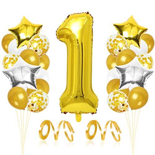 Ballon Anniversaire 1 Golden ,1er Anniversaire Ballon, Ballon Chiffre 1 Golden, Ballons Anniversaire 1 an Golden, Ballon 1 Ans, Golden Ballons, Anniversaire Fille Garçon Parti Décoration