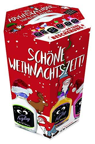 Kleiner Feigling | Adventskalender 2020 | 24 x 20ml | Marken-Spirituose | Premium Likör | Feiern mit Fantasie | Der Party – Shot