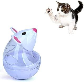 WXLAA Cat Treat Dispenser Ball Toy, Mice Shaped Tumbler Slow Feeder Food Ball Pet Interactive Treat Toy