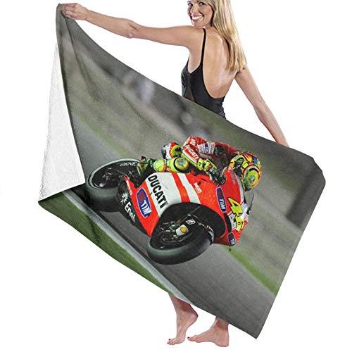 Valentino Rossi Toalla de playa de algodón, microfibra, absorbente, toalla de baño, toalla de secado rápido, manta para mujeres, niños