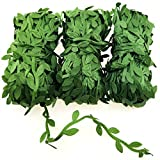 IFAMIO 197 ft Artificial Vines Fake Willow Leaf Garland Greenery Hanging Plant Leaves Rattan Decoration for DIY Wreaths Foliage Room Wall Party Wedding Garden Decor