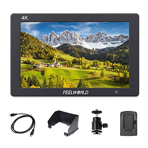 FEELWORLD T7 7 Inch DSLR On Camera Field Monitor Video Assist Full HD 1920x1200 4K HDMI Input Output with Peaking Focus Rugged Aluminum Housing