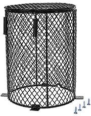 MYA - Protector de Calentador de Reptiles de Metal, Funda de protección para Calentamiento Reptil Heater Guard calienta-Bombilla, Jaula Protectora, Tapa de lámpara de Malla metálica