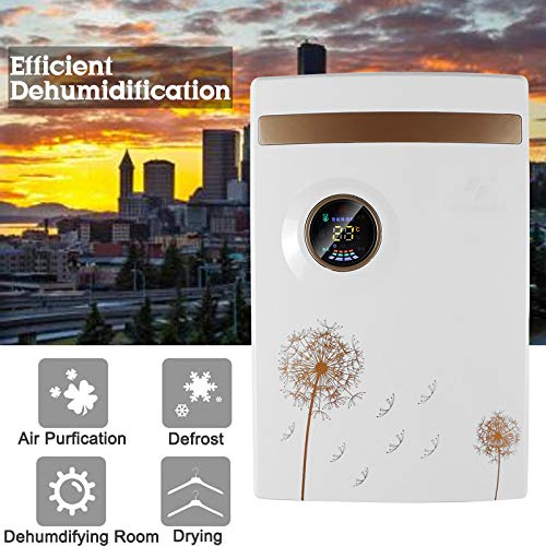New GDS 2.5L Dehumidifier, Household Water Alarm, All Electric Dehumidifier, Air Dryer Display, Dehu...