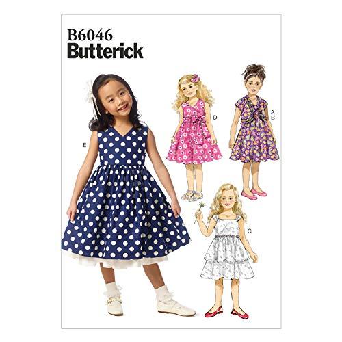 Butterick Patronen 6046CDD Maten 2-3 - 4-5 Kinderen/Meisjes Shrug en Jurk
