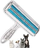 Kindax Spazzola Togli Peli Animali, Rullo Toglipeli per Rimozione Peli di Cani e Gatti da Tessuti, Vestiti e Divano, Riutilizzabile e Lavabile