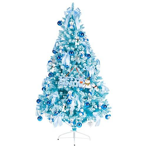 Árboles de Navidad Decoración de Temporada Navidad Árboles de navidad artificial con árbol de Navidad decorado, Apto for Navidad interior y exterior decoración (azul) Navidad Decoración Árboles de Nav