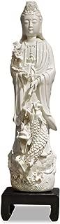 kwan yin porcelain statue