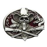 Urban Backwoods Western Pirate Skull V Hebillas de cinturón Belt Buckle