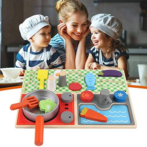 Grupos de alimentos - Juego de madera Comida, juego de simulación, juego de cocina Juguetes Gran regalo para niñas y niños - Juguete para niños mejor para niños de 3, 4, 5 y 6 años