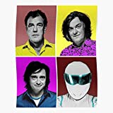 kineticards Art Pop Jeremy Clarkson Stig Top Gear | Home Decor Wall Art Print Poster